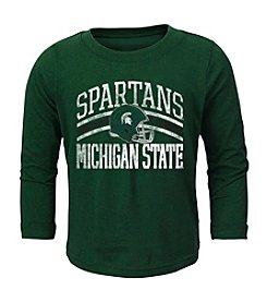 adidas® NCAA® Michigan State Spartans Boys' 2T-4T Helmet Stripes Long Sleeve Tee