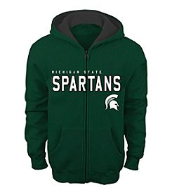 adidas® NCAA® Michigan State Spartans Boys' 4-20 Stated Full Zip Hoodie