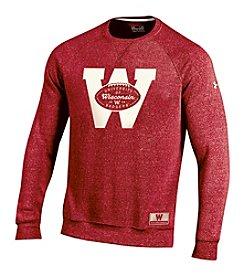 Under Armour® NCAA® Wisconsin Badgers Men's Logo Crewneck Sweater