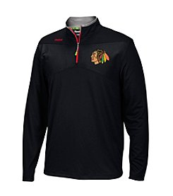 Reebok® NHL® Chicago Blackhawks Men's Center Ice Quarter Zip Pullover