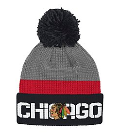 Reebok® NHL® Chicago Blackhawks Center Ice Cuffed Pom Hat