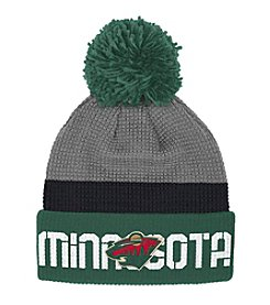 Reebok® NHL® Minnesota Wild Center Ice Cuffed Pom Hat
