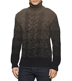Calvin Klein Jeans® Men's Ombre Cable Knit Turtleneck Sweater