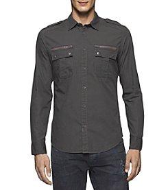 Calvin Klein Jeans® Men's Dusk Military Dye Button Down Shirt