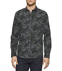 Calvin Klein Jeans® Men's Melange Camo Print Button Down Shirt