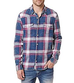 Buffalo by David Bitton Men's Skyro Long Sleeve Button Down Plaid Shirt