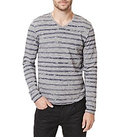 Buffalo by David Bitton Men's Kastripe Long Sleeve V-Neck Tee