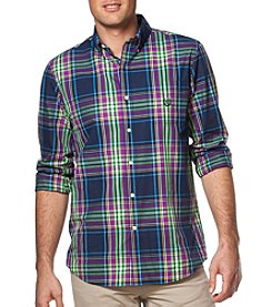 Chaps® Men's Big & Tall Long Sleeve Plaid Easy-Care Button Down Shirt