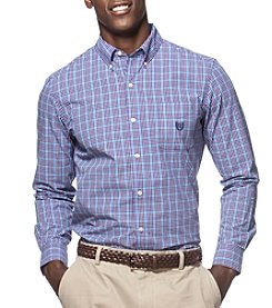 Chaps® Men's Big & Tall Long Sleeve Gingham Easy-Care Button Down Shirt