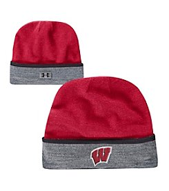 Under Armour® NCAA® Men's Wisconsin Badgers Sideline Cuffed Beanie Hat