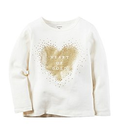 Carter's® Girls' 2T-8 Heart Of Gold Tee