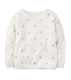 Carter's® Girls' 2T-8 Polka Dot Sweater