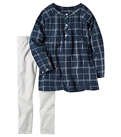 Carter's® Girls' 4-8 2-Piece Plaid Tunic and Leggings Set