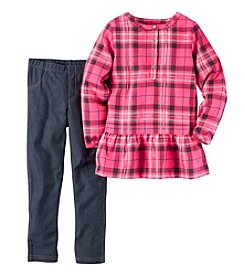 Carter's® Girls' 4-8 2-Piece Plaid Top and Jeggings Set