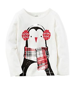 Carter's® Girls' 2T-8 Chilly Penguin Tee