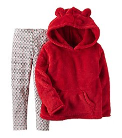 Carter's® Girls' 2T-4T 2-Piece Sherpa Hoodie and Leggings Set