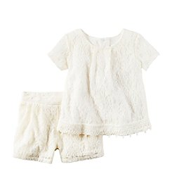 Carter's® Girls' 2T-4T 2-Piece Lace Top and Shorts Set