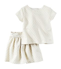 Carter's® Girls' 2T-4T 2-Piece Jacquard Top and Skirt Set