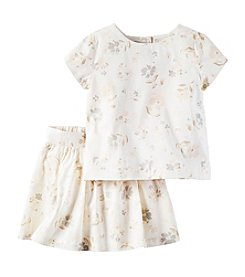 Carter's® Girls' 2T-4T 2-Piece Floral Top and Skirt Set