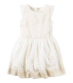 Carter's® Girls' 2T-8 Glitter Dot Dress