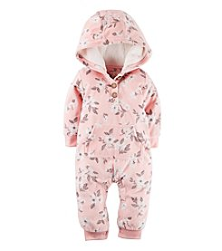 Carter's® Baby Girls' Floral Hooded Jumpsuit