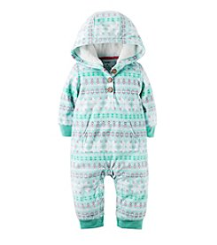 Carter's Baby Girls' Fair Isle Hooded Jumpsuit