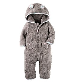 Carter's® Baby Girls' Sherpa Hooded Jumpsuit