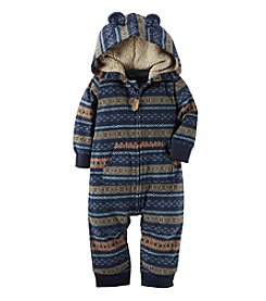 Carter's® Baby Boys' Fair Isle Hooded Jumpsuit