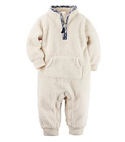 Carter's® Baby Boys' Plaid Trim Jumpsuit