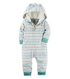 Carter's® Baby Fair Isle Hooded Jumpsuit