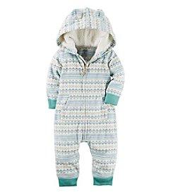 Carter's® Baby Fairisle Hooded Jumpsuit