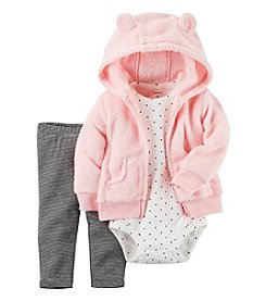 Carter's® Baby Girls' 3-Piece Dot Hoodie Set