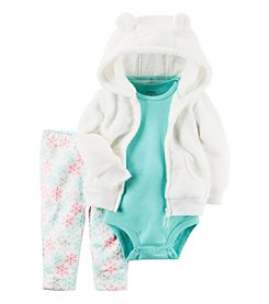 Carter's® Baby Girls' 3-Piece Snowflake Hoodie Set