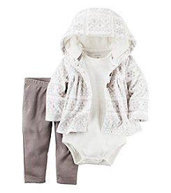 Carter's® Baby Girls' 3-Piece Fair Isle Hoodie Set