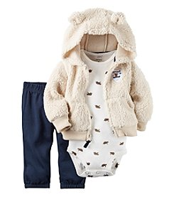 Carter's® Baby Boys' 3-Piece Bear Hoodie Set