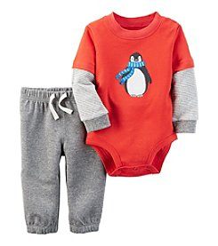 Carter's® Baby Boys' 2-Piece Penguin Bodysuit Set