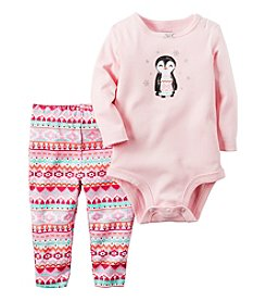 Carter's® Baby Girls' 2-Piece Penguin Bodysuit Set