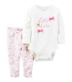 Carter's® Baby Girls' 2-Piece Little Cutie Bodysuit Set