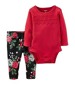Carter's® Baby Girls' 2-Piece Lace Accent Bodysuit Set