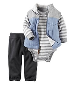 Carter's® Baby Boys' 3-Piece Striped Vest Set
