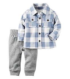 Carter's® Baby Boys' 2-Piece Plaid Shirt Set