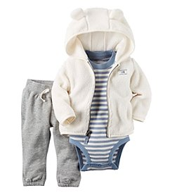 Carter's® Baby Boys' 3-Piece Striped Hoodie Set