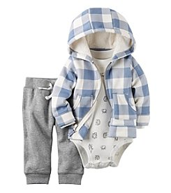 Carter's® Baby Boys' 3-Piece Plaid Hoodie Set