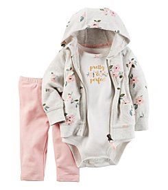 Carter's® Baby Girls' 3-Piece Pretty & Perfect Hoodie Set