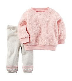 Carter's® Baby Girls' 2-Piece Sherpa Pullover and Joggers Set
