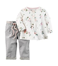 Carter's® Baby Girls' 2-Piece Floral Tunic and Pants Set