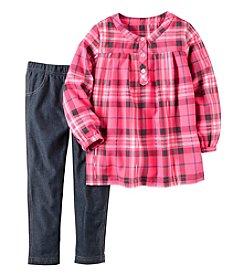 Carter's® Baby Girls' 2-Piece Plaid Tunic and Jeggings Set