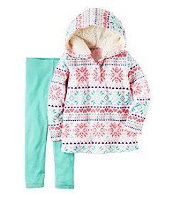Carter's® Baby Girls' 2-Piece Fair Isle Hoodie and Leggings Set