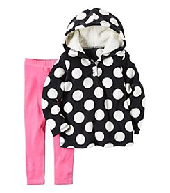 Carter's® Baby Girls' 2-Piece Dot Hoodie and Leggings Set