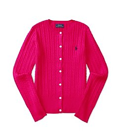 Polo Ralph Lauren® Girls' 7-16 Mini Cable Knit Cardigan